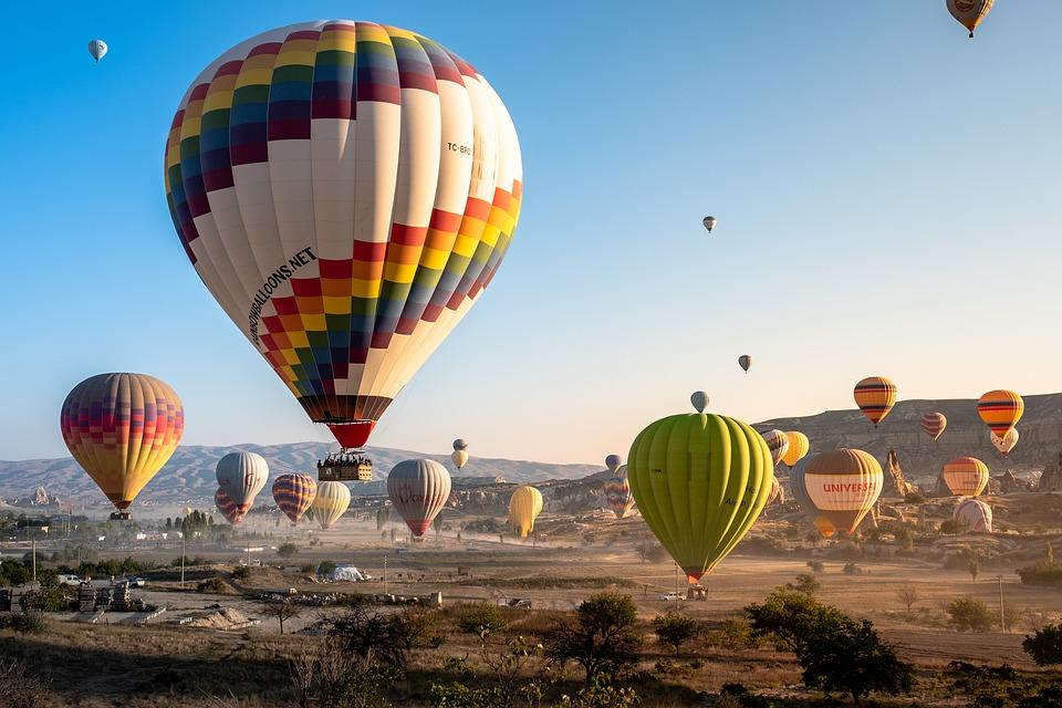 Luftballoner der parkerer